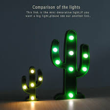 Cactus Light Anthropologie Cactus Light Decor Mini Cactus Night Lamps For Party Home Livingroom Decorations