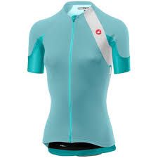 Castelli Scheggia 2 Womens Jersey White Aqua Rau On