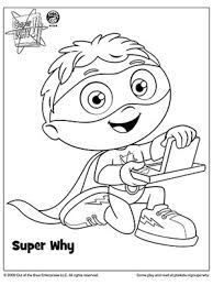 Small Picture The Most Incredible along with Lovely Super Why Coloring Pages to