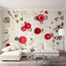 Custom Photo Wall Paper 40D Creative Art Wall Painting Romantic Rose Delectable Wall Painting Living Room Creative