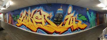 office graffiti wall. linkedin office graffiti wall