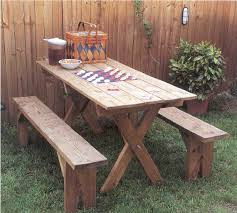 creative of outdoor picnic tables and benches stylish wooden picnic tables for vacation inhabit zone