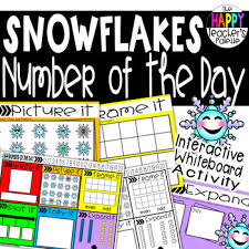 Place Value Flip Chart Promethean Number Of The Day Snowflakes Interactive Promethean Board Flipchart Printable