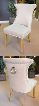 chairs with ring backs cream ring pull studded dining