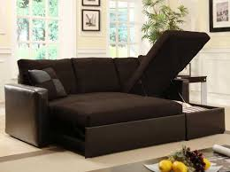 ... Brown Full Sofa Beds For Small Rooms Grain Leather Sleeper With Extra  Bed And Lift Top ...