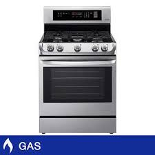 gas kitchen stove. LG 6.3CuFt Stainless Steel GAS Range With EasyClean And ProBake Convection Oven, 5 Burners Gas Kitchen Stove