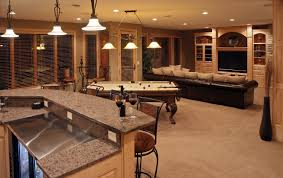 Basement On A Budget Amazing Cheap Basement Finishing Ideas In Form Of Bar Design On A