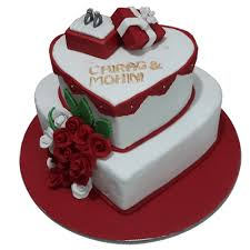 Engagement Cakes Online Heart Shaped Design In Faridabad