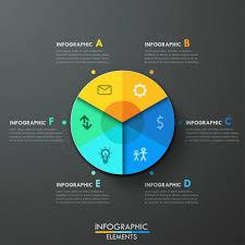 Modern Pie Chart Modern Infographics Paper Pie Chart Template Vector
