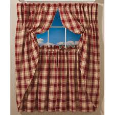 Plaid Kitchen Curtains Valances Prairie Plaid Curtains Sturbridge Yankee Workshop