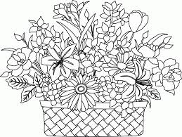 Small Picture Flower Basket Coloring Pages Within glumme