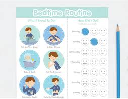 Bedtime Routine Chart Buy Personalised Boy Bedtime Routine Chart Online