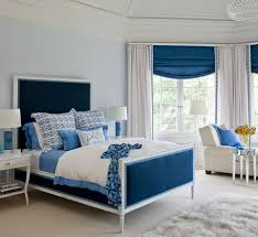 Appealing Blue and White Bedroom |