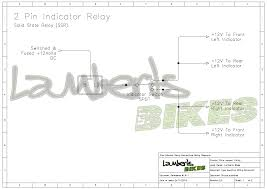 indicator relay lamberts bikes 2 pin indictor relay wiring diagram