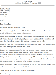 train driver cover letter example cover letter for my cv