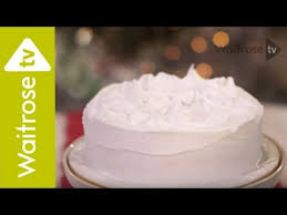 Decorate A Christmas Cake With Royal Icing Waitrose Youtube