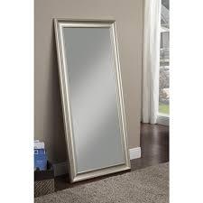 mirror finish furniture. sandberg furniture champagne silver finish full length leaner mirror n