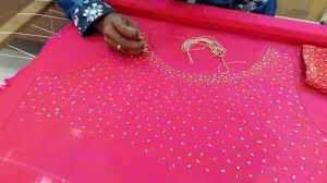 Ray World Designer Boutique Tailoring Thiruvananthapuram Kerala Sugar Beads Work Ray World Designer Boutique Tailoring