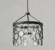 emery indoor outdoor recycled glass chandelier