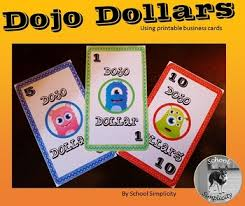 Dojo Dollars For Printable Business Cards By School Simplicity Tpt