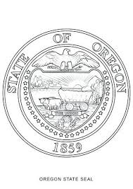 Oklahoma State Tree Coloring Page Gallery Of State Seal Coloring