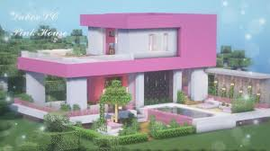 Ver más ideas sobre decoraciones minecraft, casas minecraft, minecraft. Minecraft Modern Pink House Map Download Cute Pink House Kawaii World Tutorial 1 Youtube