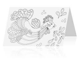 Uitnodiging 5 Jarig Jubileum Kleurplaat Kaart Gekke Vogel