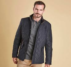 Barbour - Powell Quilted Jacket - Navy & Barbour - Mens Powell Quilted Jacket with Fleece Lining Adamdwight.com