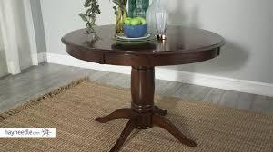 belham living spencer round pedestal dining table espresso review