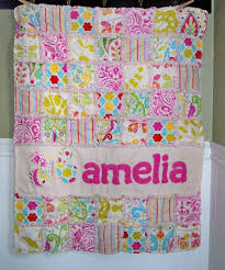 applique name quilts - Google Search | Craft Ideas | Pinterest ... & Rag Quilt Crib Size CUSTOM Patchwork, Personalized with Name Applique, YOU  pick fabric colors/theme, Crib Bedding Adamdwight.com