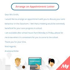 How To Write Appointment Letter Make An Appointment Email Sample