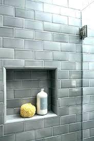 tiling a shower niche subway tile niche grey subway tile shower shower niche gray subway subway