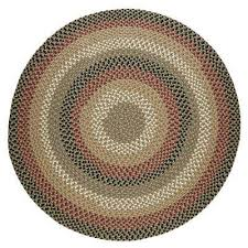 country medley forest green 8 ft x 8 ft round indoor outdoor braided
