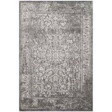 evoke grey ivory 4 ft x 6 ft area rug