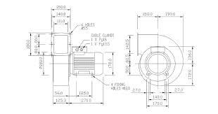 vbl9 centrifugal fan air control industries vbl9 centrifugal fan outline dimensions diagram