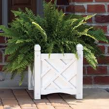 contemporary planter boxes with chic white wooden boxes with