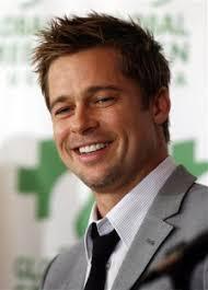 Coiffure Brad Pitt Raie Sur Le Cote Visage Carre