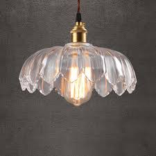 modern ceiling pendant 1 light with clear glass fl shade in brass for cafe dining room kitchen