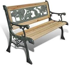 vidaXL <b>Children Garden Bench 84cm</b> Wood Outdoor Patio Park ...