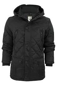 Mens Quilted Hooded Jacket by Brave Soul 'Scout' | eBay & Mens-Quilted-Hooded-Jacket-by-Brave-Soul-039- Adamdwight.com