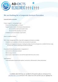 13 05 2019 We Are Looking For A Corporate Services