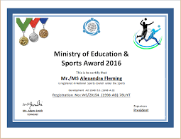 Free Sports Certificate Templates For Word Sports Award