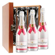 moet chandon ice imperial rose 75cl treble luxury gift boxed chagne