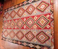 red hand woven turkish kilim carpet large rug bohemian living room decor area modern oriental rugs