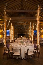 lighting decorations for weddings. Lodge Wedding, White Lights, Tree Décor, Rustic Elegance, Indoor Reception // Lighting Decorations For Weddings N