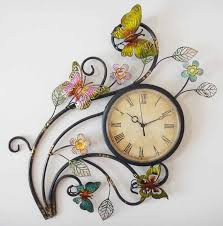 beautiful butterflies matter tree metal art wall clock amazing design vintage style flowers leaf branch pinterest on wall clock art design with wall art top ten gallery art wall clock wall art clock stickers
