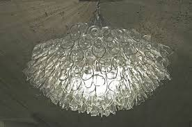 recycled glass chandelier recycled l77