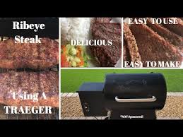 ribeye steaks using a traeger grill
