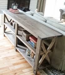 White sofa table Tall Rustic Console Ana White Ana White Rustic Console Diy Projects