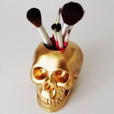 skull makeup brush pen skull brush holder